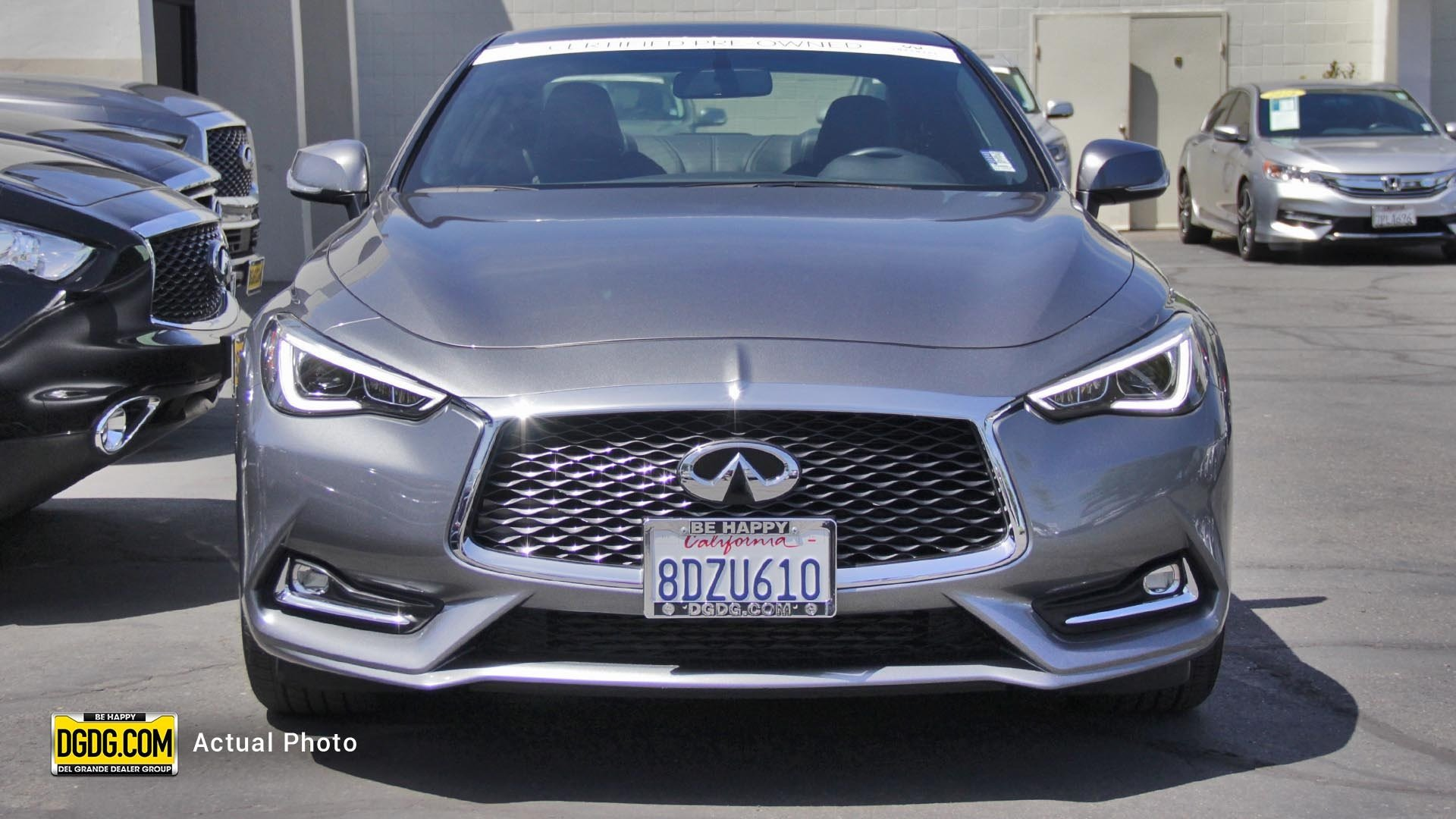 Certified Pre-Owned 2018 INFINITI Q60 2.0t PURE